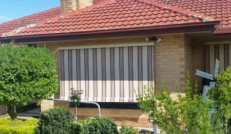 Striped Canvas Awnings in Adelaide