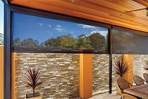 Zipscreen blinds with view looking out